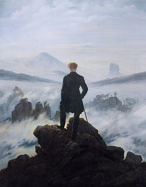 Wanderer above the sea and fog. 1818. Caspar David Friedrich.